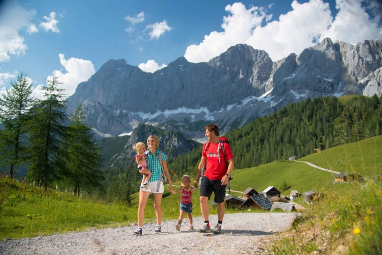 mountain summer with the hole family in Ramsau am Dachstein
