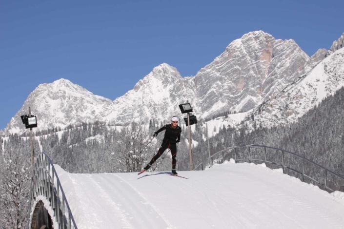 Cross-country skiing stadium in Ramsau Ort