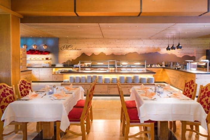 Dining room Buffet-Hotel Matschner