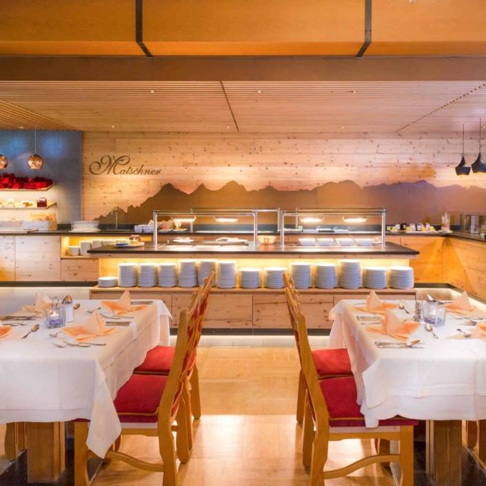 Speisesaal Buffet-Hotel Matschner