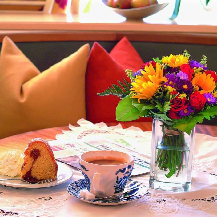 Kaffee und Kuchenbuffet im Hotel Matschner