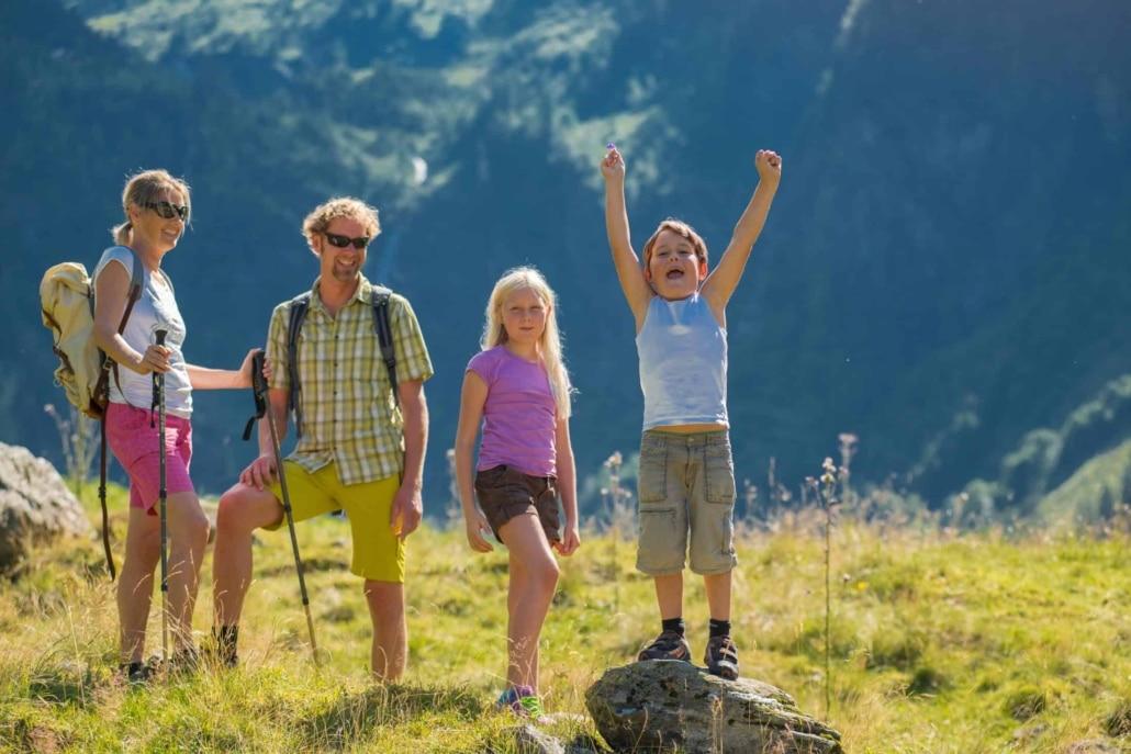 Jede Menge Familien Wanderwege