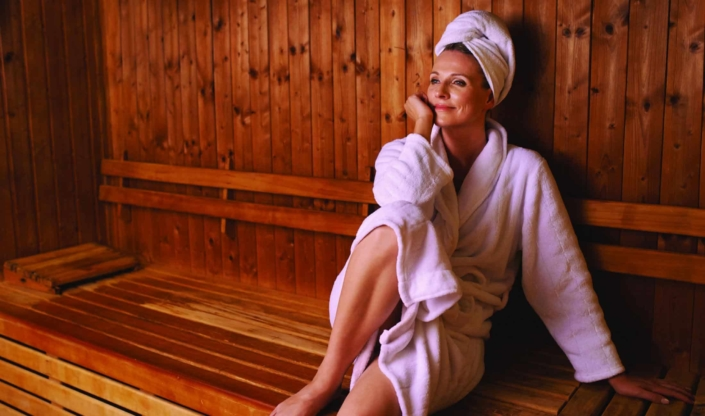 enjoy time out and relax in the sauna area