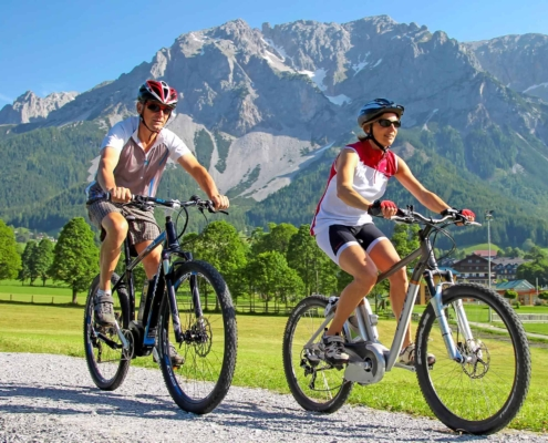 start directly from the Hotel Matschner with the electric bike