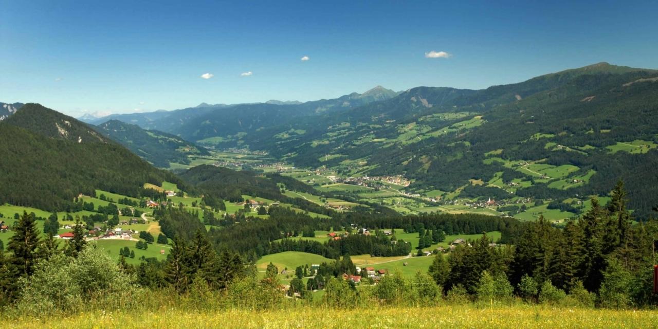 E-Bike und MTB Tour Rittisberg-Blick ins Ennstal