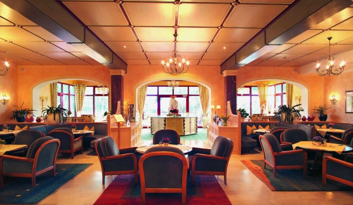 Cozy foyer welcomes you to Hotel Matschner