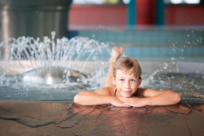 Own children's pool with water games in the Ramsauer bathing paradise