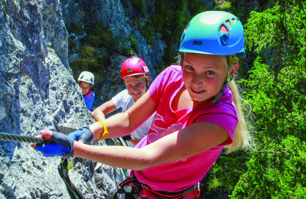 Children's and youth climbing trails on the Sattelberg