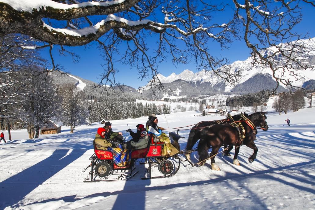 Ramsau Winter Schlittenfahrt Dachstein
